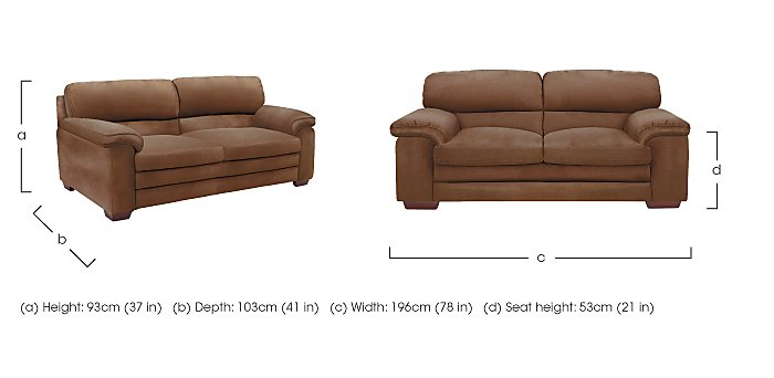 Carolina 2.5 Seater Fabric Sofa in  on Furniture Village