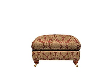 Chelsea Village Fabric Foostool in Oscar Russet Gold on Furniture Village