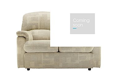Chloe 2 Seater Small Fabric Sofa in B431 Lydia Linen on Furniture Village