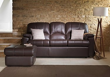 Chloe 3 Seater Leather Recliner Sofa in  on Furniture Village