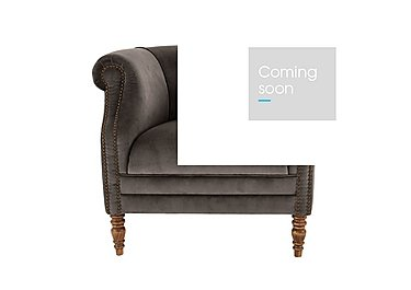 New England Dukes Fabric Armchair in Cabin Velvet Discovery W-Oak F on Furniture Village