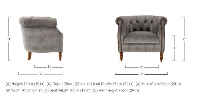 New England Dukes Fabric Armchair in  on Furniture Village