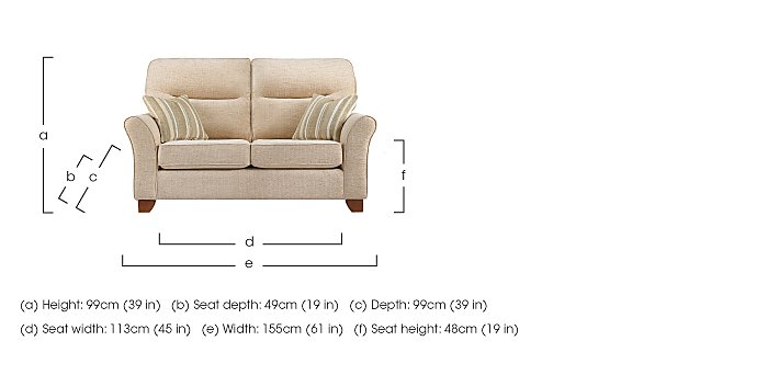 Gemma 2 Seater Fabric Sofa in  on Furniture Village