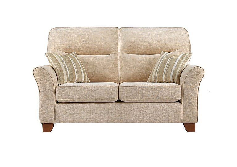Gemma 2 Seater Fabric Sofa in A071 Boucle Oyster on Furniture Village