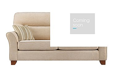 Gemma 3 Seater Fabric Sofa in A071 Boucle Oyster on Furniture Village