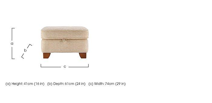 Gemma Fabric Footstool in  on Furniture Village