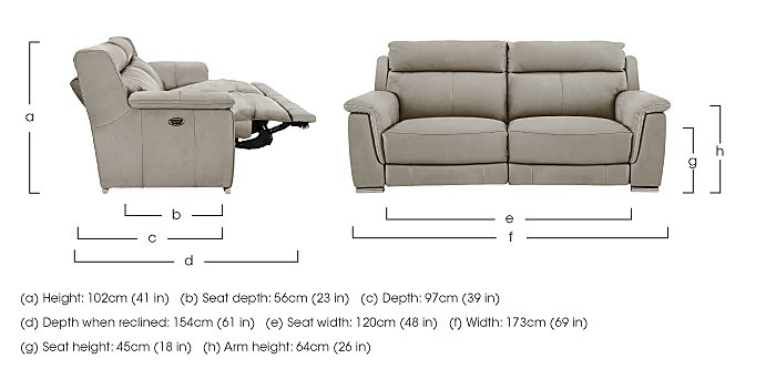Glider 2 Seater Fabric Recliner Sofa in  on Furniture Village
