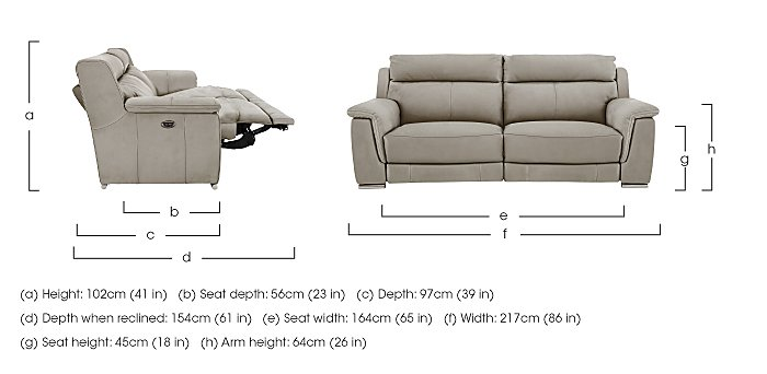 Glider 3 Seater Fabric Recliner Sofa in  on Furniture Village