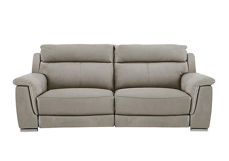 Glider 3 Seater Fabric Recliner Sofa in Bfa-Blj-R946 Slvr Grey- on Furniture Village