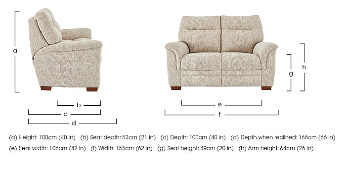 Hudson 2 Seater Fabric Recliner Sofa in  on Furniture Village