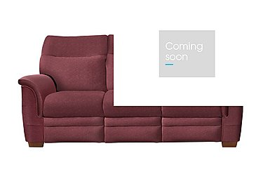 Hudson 3 Seater Fabric Recliner Sofa in 050032-0072 Boucle Berry on Furniture Village