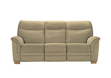 Hudson 3 Seater Fabric Recliner Sofa in 050032-0090 Boucle Truffle on Furniture Village