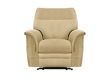 Hudson Fabric Recliner Armchair in 050032-0090 Boucle Truffle on Furniture Village