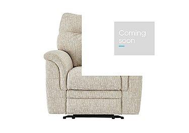 Hudson Fabric Recliner Armchair in Sabrina Beige on Furniture Village