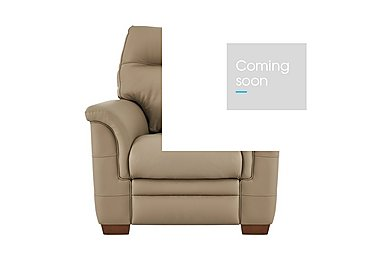 Hudson Leather Recliner Armchair in Lp53051-19 Como Taupe on Furniture Village