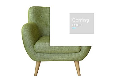 Jasper Large Fabric Armchair in Lemans 1070 Lime on Furniture Village
