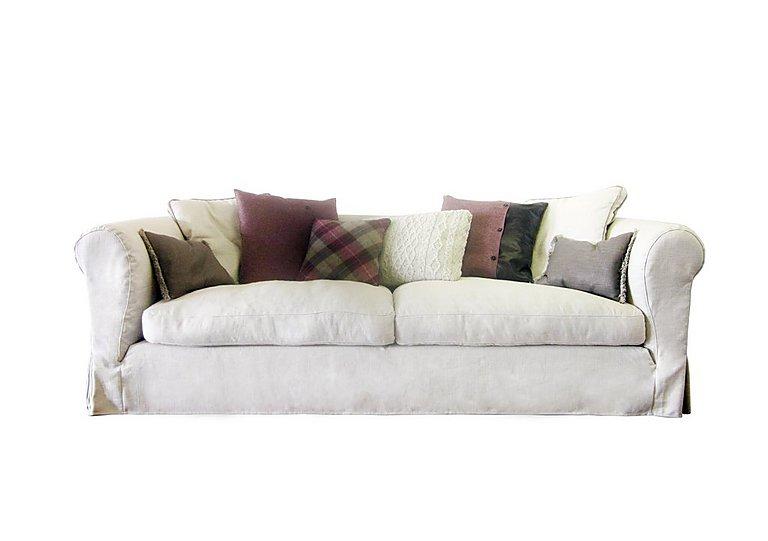 Lexington 4 Seater Fabric Sofa in Saville - Natural on Furniture Village