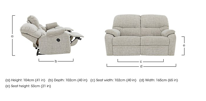 Mistral 2 Seater Fabric Recliner Sofa in  on Furniture Village