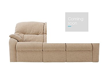 Mistral 3 Seater Fabric Recliner Sofa in B719 Naples Cream on Furniture Village