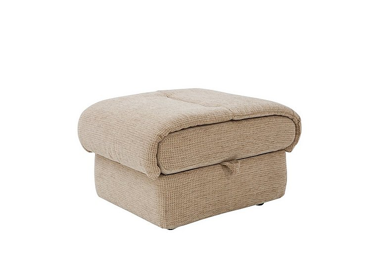Mistral Fabric Footstool in B719 Naples Cream on Furniture Village