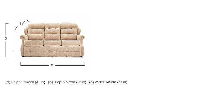 Oakland 3 Seater Fabric Sofa in  on Furniture Village