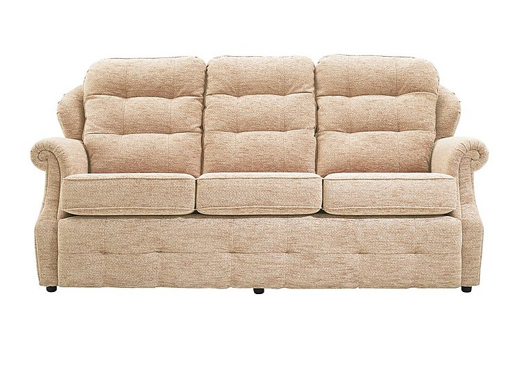 Oakland 3 Seater Fabric Sofa in A071 Boucle Oyster on Furniture Village