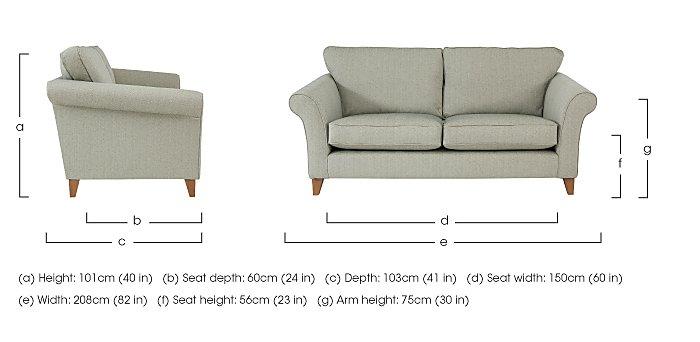 High Street Regent Street 3 Seater Fabric Sofa in  on Furniture Village