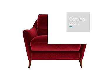Remy Fabric Armchair in Luxor Cranberry- 80371 on Furniture Village