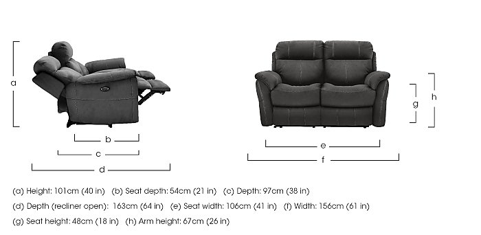 Relax Station Revive 2 Seater Fabric Recliner Sofa in  on Furniture Village