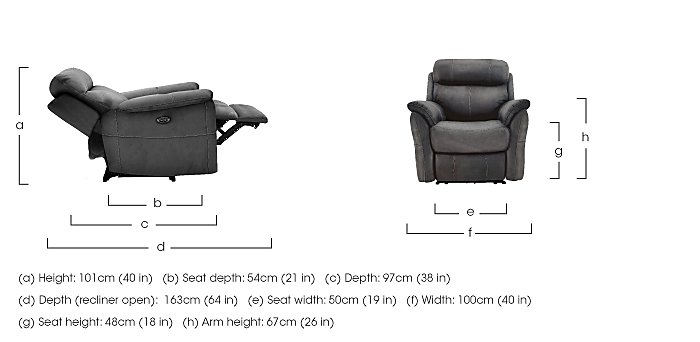 Relax Station Revive Fabric Recliner Armchair in  on Furniture Village