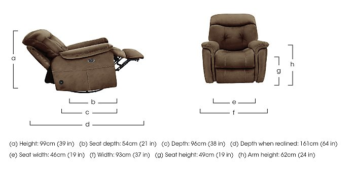 Seattle Fabric Recliner Chair in  on Furniture Village