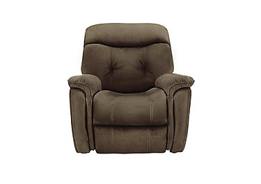 Seattle Fabric Recliner Chair in Bfa-Blj-R04 Tobacco- on Furniture Village