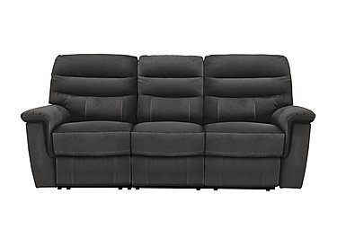 Relax Station Serenity 3 Seater Fabric Recliner Sofa in Bfa-Blj-R16 Grey on Furniture Village