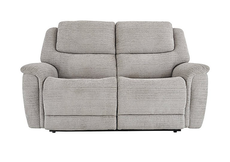 Sheridan 2 Seater Fabric Recliner Sofa in 5th Ave Plain Nickel 40526 on Furniture Village
