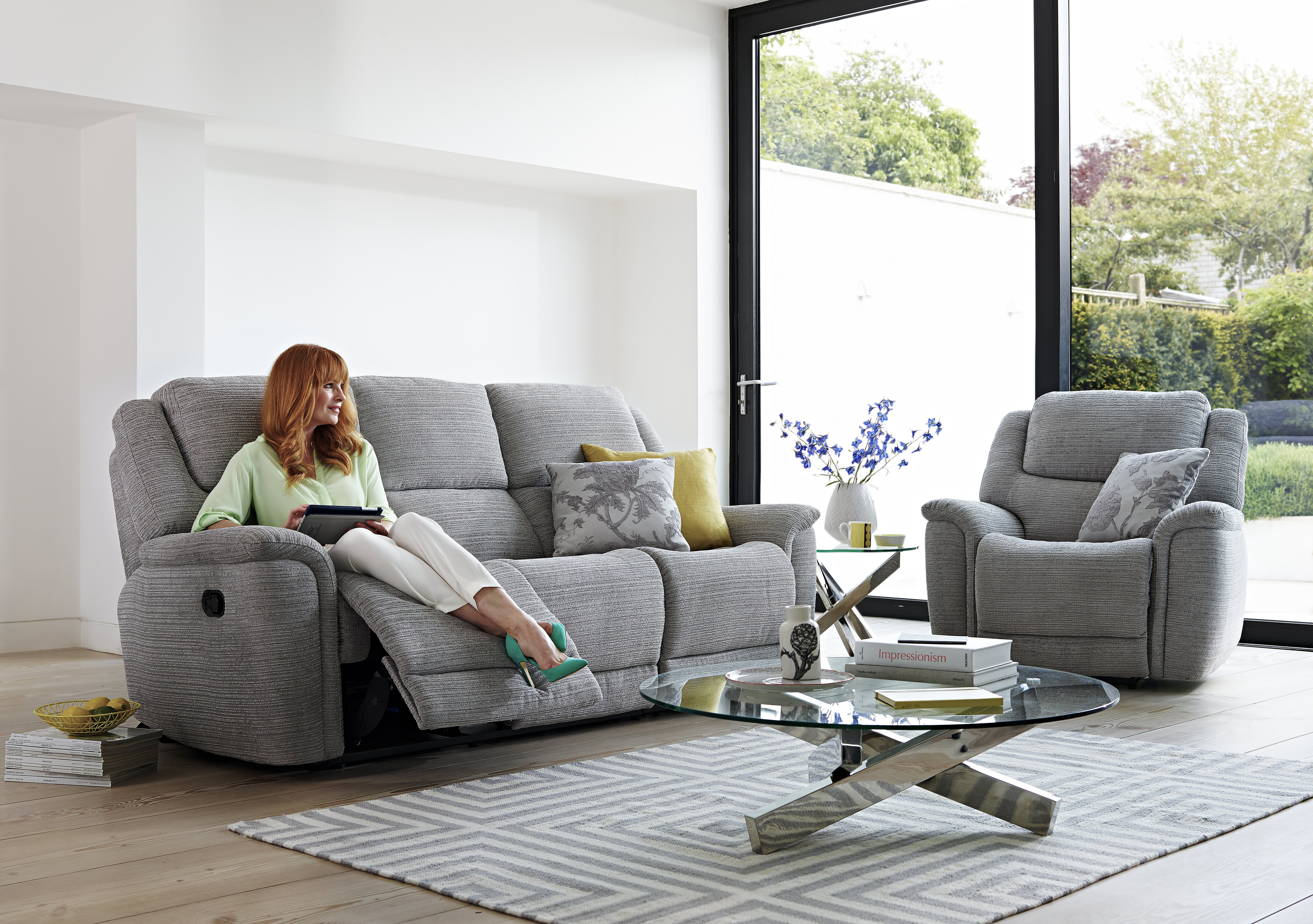 Sheridan 2 Seater Fabric Recliner Sofa Furniture Village