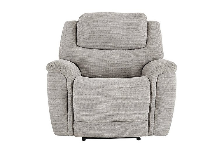 Sheridan Fabric Recliner Armchair in 5th Ave Plain Nickel 40526 on Furniture Village