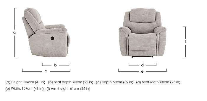 Sheridan Fabric Recliner Armchair in  on Furniture Village