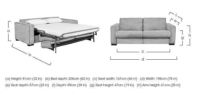 Siesta 2.5 Seater Fabric Sofa Bed in  on Furniture Village