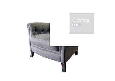 Sonata Fabric Armchair in Saville Clay Dark Mahogany Ft on Furniture Village