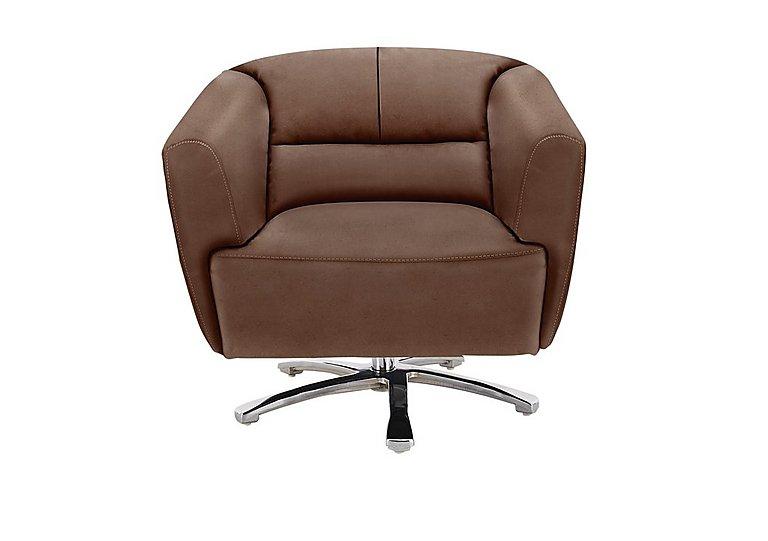 Spectrum Fabric Swivel Tub Armchair in Bfa-Blj-R05 Hazelnut on Furniture Village