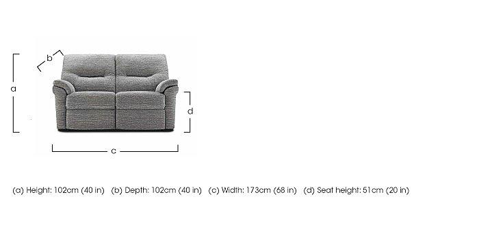 Washington 2 Seater Fabric Recliner Sofa in  on Furniture Village