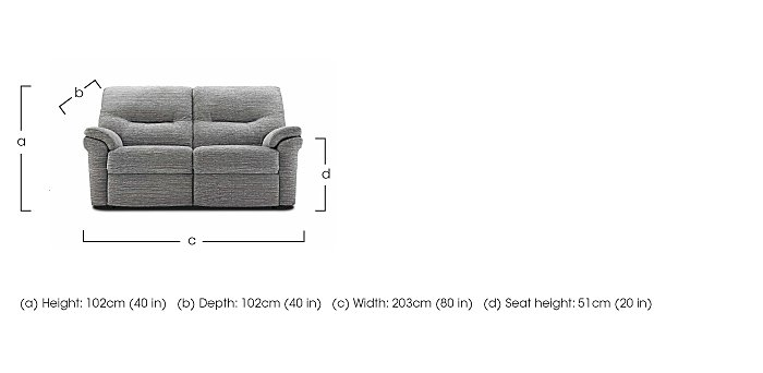 Washington 3 Seater Fabric Recliner Sofa in  on Furniture Village