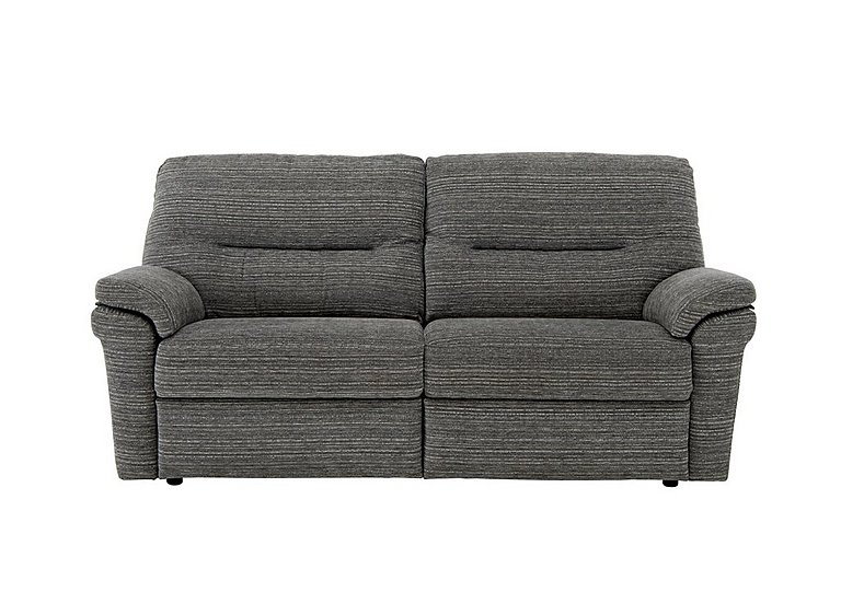 Washington 3 Seater Fabric Recliner Sofa in B902 Victoria Grey on Furniture Village