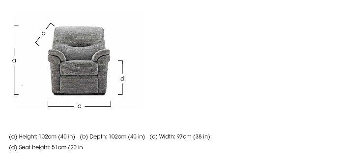 Washington Fabric Recliner Armchair in  on Furniture Village