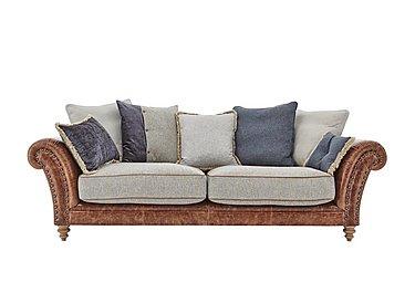 Westwood 3 Seater Leather Sofa in Sky Blue Wool/Velvet Slate on Furniture Village