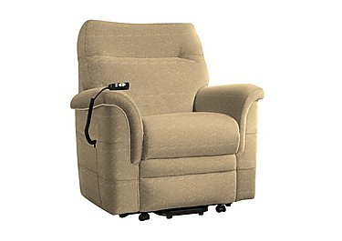 Hudson Fabric Lift and Rise Armchair in 050032-0090 Boucle Truffle on Furniture Village