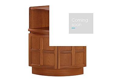 Classic External Corner Mid Storage Unit in Teak on Furniture Village