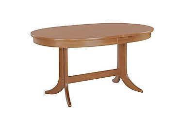 Classic Oval Extending Dining Table in Teak on Furniture Village