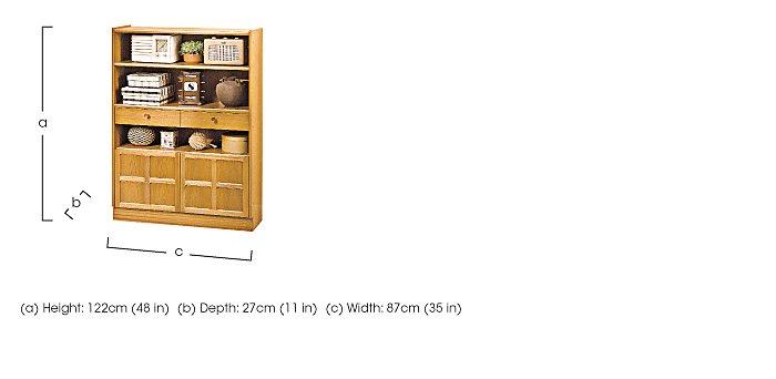 Classic Medium Bookcase with Doors in  on Furniture Village