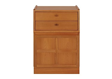 Classic 2 Drawer Mid Storage Unit in Teak on Furniture Village